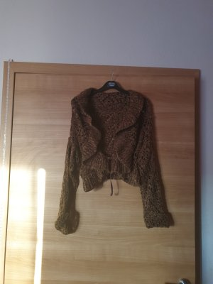 keine Top en maille crochet brun