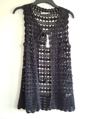 Allude Crochet Cardigan black