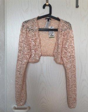 Mango Szydełkowany sweter różany-brzoskwiniowy