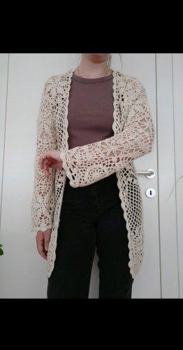 Springfield Cardigan en crochet blanc cassé