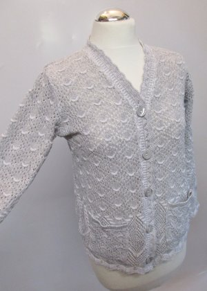 Crochet Cardigan multicolored mixture fibre