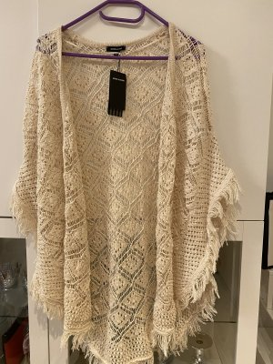 More & More Szydełkowany sweter w kolorze białej wełny-kremowy