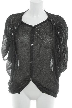 Crochet Cardigan black-silver-colored casual look
