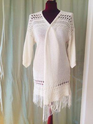 Janina Crochet Cardigan natural white