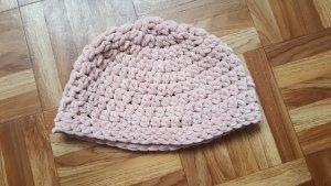 Gorro tejido rosa