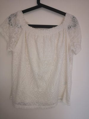 H&M Crochet Top natural white-cream