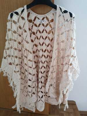 Mango Poncho natural white