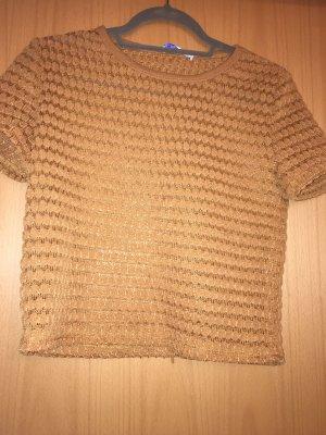 Zara Trafaluc Gehaakt shirt cognac