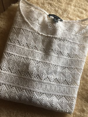 Mango Crochet Shirt white