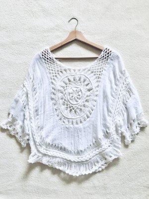 Crochet Shirt white-natural white