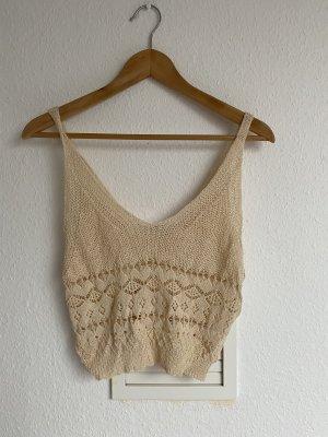 Crochet Top beige