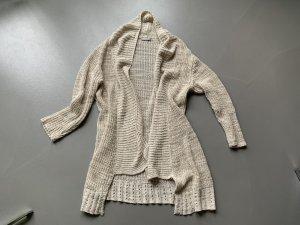 Betty & Co Veste tricotée en grosses mailles beige clair coton