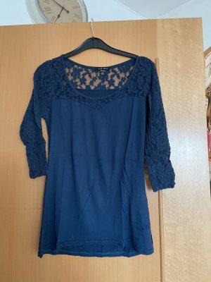 Amisu Gehaakt shirt blauw