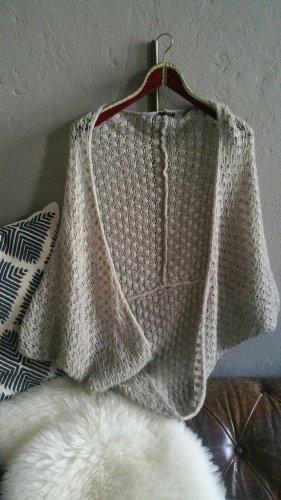 Sisley Crochet Cardigan light grey-grey