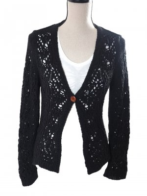 Street One Cardigan all'uncinetto nero
