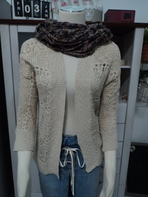 Vero Moda Cardigan all'uncinetto color carne-beige Cotone