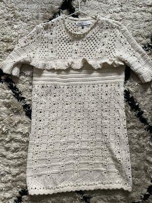 Zara Vestido Hippie blanco puro