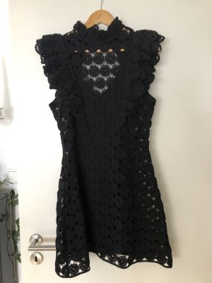 H&M Knitted Dress black polyester