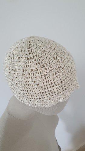 Handmade Cappello all'uncinetto bianco