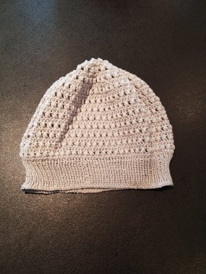 Crochet Cap light grey