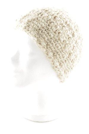 Bonnet en crochet beige style décontracté