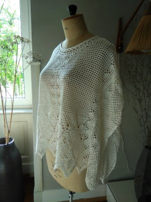 Mango Suit Crochet Top white