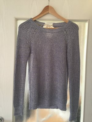 Maison Scotch Crochet Sweater azure