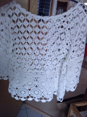 Crochet Sweater white