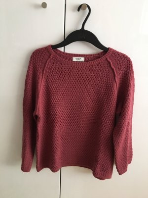 Jacqueline de Yong Crochet Sweater purple