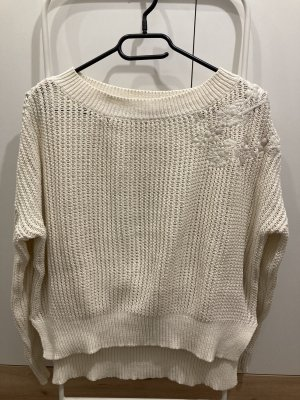Springfield Crochet Sweater natural white
