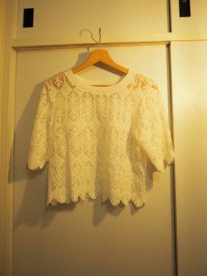 Zalando Crochet Shirt natural white
