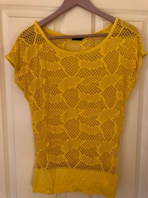 Sa.Hara Crochet Shirt gold orange