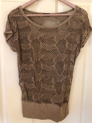 Sa.Hara Crochet Shirt light brown