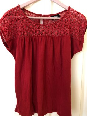 Gina Crochet Shirt dark red