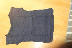 Gehaakt shirt donkerblauw Katoen