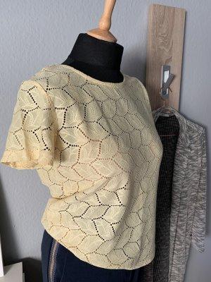 Jacqueline de Yong Crochet Shirt pale yellow-primrose