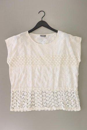 Camisa de ganchillo blanco puro