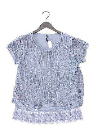 Top en maille crochet bleu-bleu fluo-bleu foncé-bleu azur