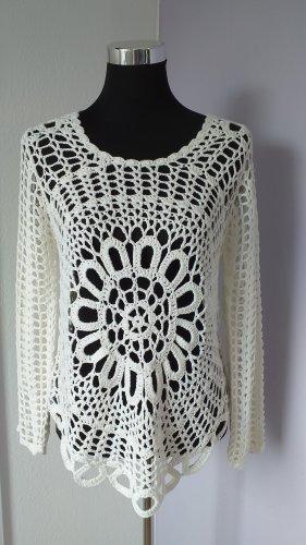 Fresh made Crochet Shirt cream