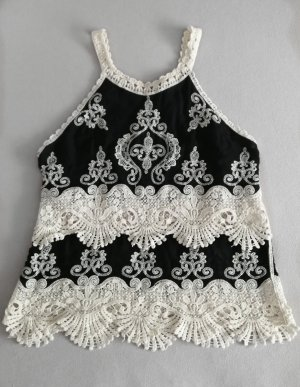 Lace Top white-black