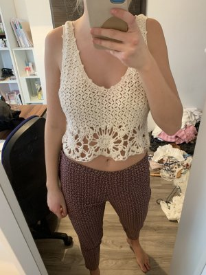 Primark Crochet Top white-natural white