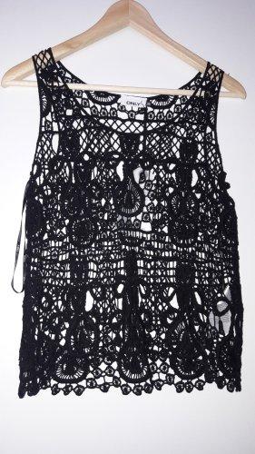 Only Crochet Top black