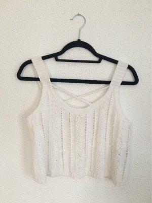 Hollister Haut en crochet blanc cassé-blanc