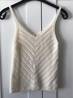 Mango Crochet Top natural white