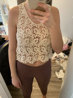 Tally Weijl Crochet Top white-natural white