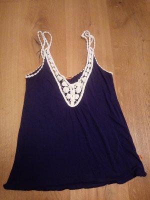 Crochet Top dark violet