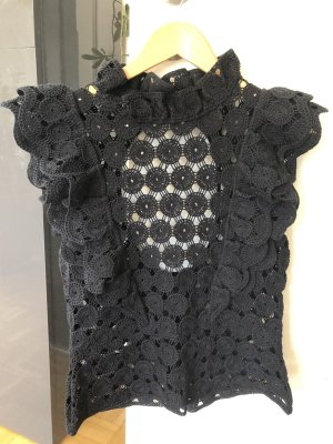H&M Crochet Top black cotton