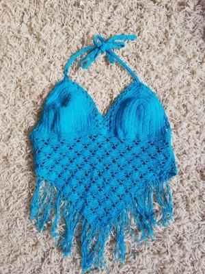 Crochet Top neon blue