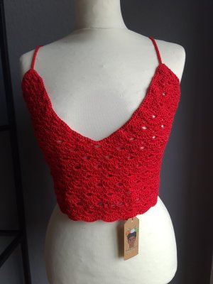 Crochet Top red