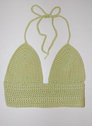 selfmade Crochet Top multicolored wool
